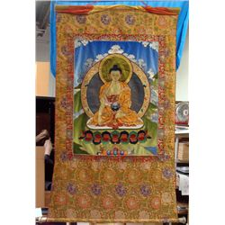 Buddhist Silk Layered Scroll Wall Hanging Tapestry