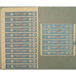 17 Colombia Specimen Tax Stamps Variation 60 Centavos
