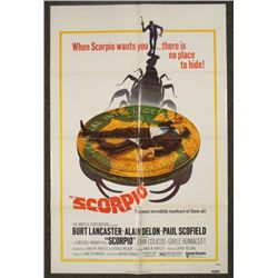 Scorpio Original 1 Sht Movie Poster Burt Lancaster 1973