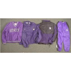 Northwestern Lot- Pull-Over Windbreaker Track Pants