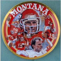 Robert Tanenbaum Joe Montana Collectors Plate KC Chiefs