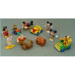 10 Disney Mickey Mouse Pluto Daisy Figurines Lot