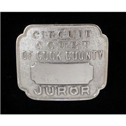 Circuit Court of Cook County Vintage Juror Badge
