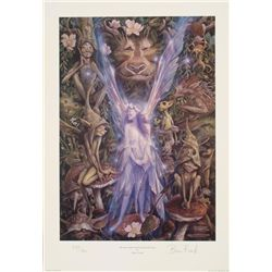 The Faery Kissed by Pixies Brian Froud Signed Art Print