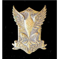 WWI Polish Army American Legion Hat Insignia