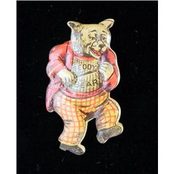 Teddy Bear Bread Antique Tin Litho Advertising Badge
