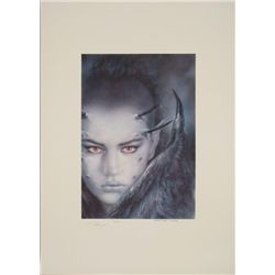 Evolution Print Art Luis Royo Signed Horned Lady