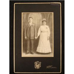 Antique Wedding Portrait Photograph 1890s PA