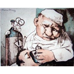 Charles Bragg Signed Medical Suite Art Print Gas Man