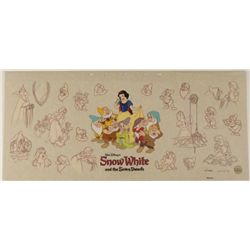 Disney Snow White & Seven Dwarfs Sericel w/ Background