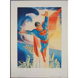 Signed Superman Garcia Lopez Print Man of Steel
