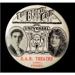  Broken Coin  Celluloid Mirror Silent Movie Promo 1915