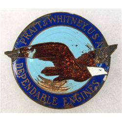 PRATT & WHITNEY ENGINES ENAMELED EMBLEM