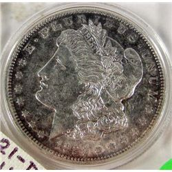 1921-D MORGAN SILVER DOLLAR - AU