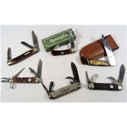LOT OF 6 VINTAGE POCKET KNIVES