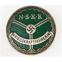 GERMAN NAZI NSKK DRIVER BADGE