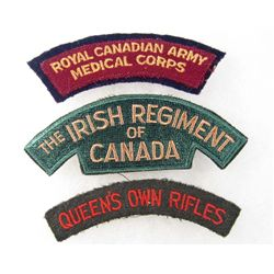 LOT OF 3 CANADIAN MILITARY PATCHES