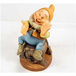 "WALT DISNEY CLASSICS COLLECTION ""HAPPY THAT'S ME"" SCULPTURE W/ COA IN ORIG. BOX"