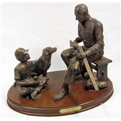 "BONDED BRONZE ""GRANDPA'S DOUBLE"" STATUE BY CODY HOUSTON"