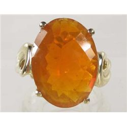14K GOLD LADIES FIRE OPAL RING - SIZE 7