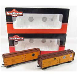 LOT OF 2 INTERMOUNTAIN TRAIN CARS IN ORIGINAL BOXES