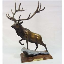 GOLIATH BRONZE ELK STATUE BY SCOTT LENNARD