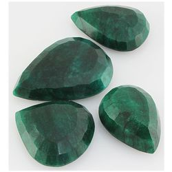 Emerald 592ct Loose Gemstone Mix Sizes Pear Cut