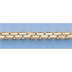 Pure Gold 16  14k Gold-Yellow 1.9mm 8 Sided Box Chain
