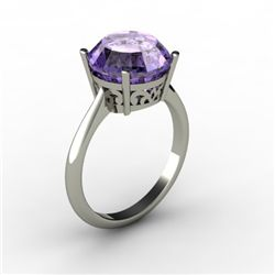 Tanzanite 5.75 ctw Ring 14kt White Gold