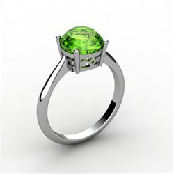 Peridot 2.00 ctw Ring14kt White Gold