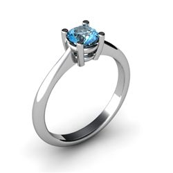 Topaz 0.56ctw Ring 14kt White Gold