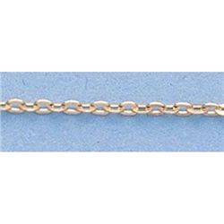 "Pure Gold 16"" 14k Gold-Yellow 1.3mm D/C Circle Chain"