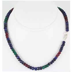 182.54ctw Natural Multi-Color Rondelles Necklace