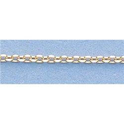Pure Gold 16  14k Gold-Yellow 1.2mm D/C Boston Chain