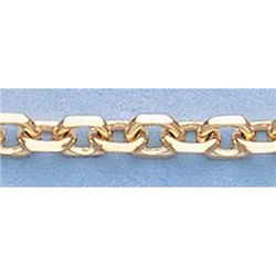 Pure Gold 16  14k Gold-Yellow 3.0mm D/C Boston Chain