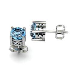 Topaz 2.00ctw Earring 14kt White Gold