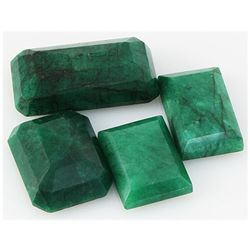 Emerald 249ct Loose Gemstone Mix Sizes Emerald Cut