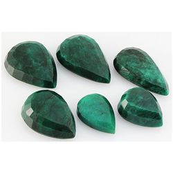 Emerald 472.5ct Loose Gemstone Mix Sizes Pear Cut