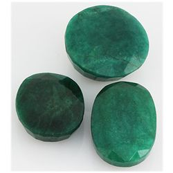 Emerald 296.5ct Loose Gemstone Mix Sizes Oval Round Cut