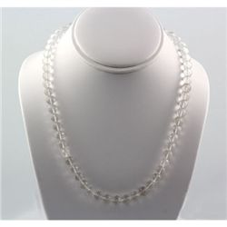 269ctw White Topaz Gemstone Silver Necklace