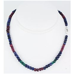 171.36ctw Natural Multi-Color Rondelles Necklace