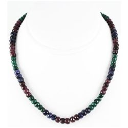 208.41ct Natural Multi-Color Rondelles Necklace