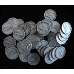 Lot of 50 Mercury Dimes - Assorted