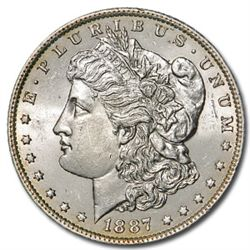 1887 UNC Morgan Silver Dollar