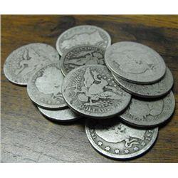 Lot of (10) Barber Quarters