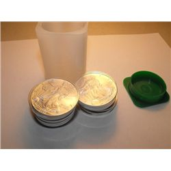 Lot of 20 Silver Eagle Bullion