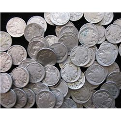 100 RD Buffalo / Indian Head Nickels