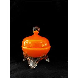 Orange Tango Art Deco Trinket Box