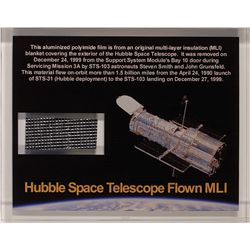Flown Hubble Space Telescope MLI Blanket Extra Large Acrylic Display