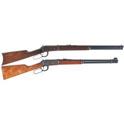 Two Winchester Model 1894 Lever Action Carbines